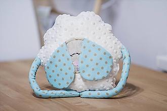 Textil - Detský vankúš ovka - mätová malá s rukami - 10722336_