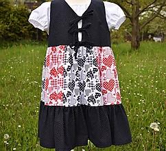 Detské oblečenie - Šatová sukňa so srdiečkami - 10721492_