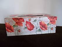 Krabičky - Drevený zásobník vlčie maky - 10722210_