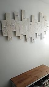 Nábytok - Vešiaková stena s listami - 10720362_