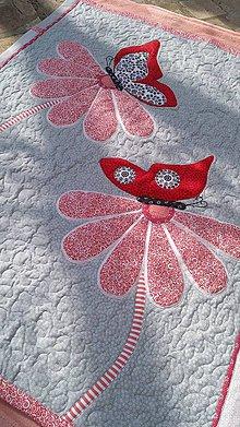 Textil - Deka s motýľmi - 10722339_