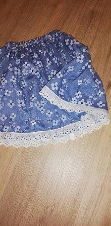 Detské oblečenie - Detská suknička s kvietočkami - 10723039_