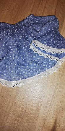 Detské oblečenie - Detská suknička s drobnými kvietkami - 10723069_