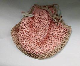 Nákupné tašky - Dvojfarebná nákupná taška marhuľkovo bežová - 10722018_