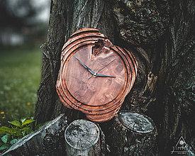 Hodiny - Artefakt - Teakové drevené hodiny - 10721531_