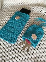 Kľúčenky - Set Modrý sen - púzdro na mobil a kľúčenka - 10721097_