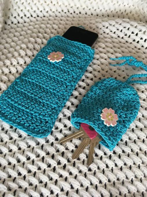 Set Modrý sen - púzdro na mobil a kľúčenka