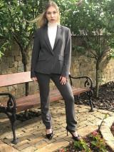 Nohavice - Biznis nohavice sivé - 10722506_