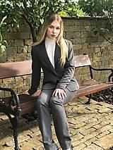 Nohavice - Biznis nohavice sivé - 10722520_