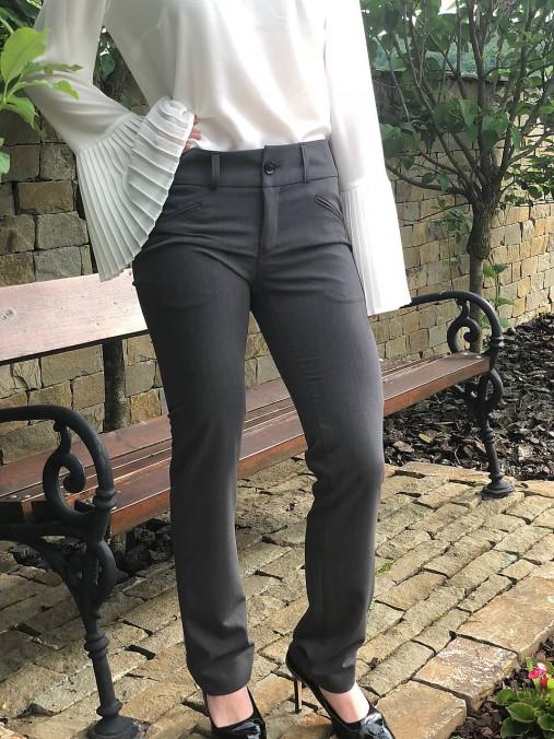 Biznis nohavice sivé