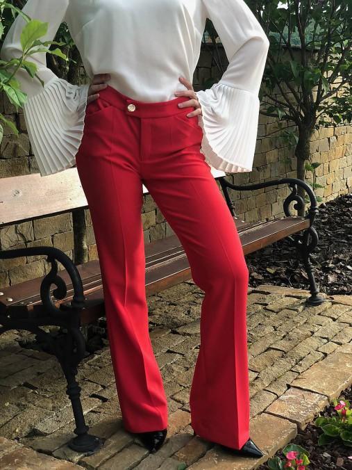 Letné nohavice červené