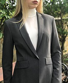 Kabáty - Biznis sako sivé - 10722459_