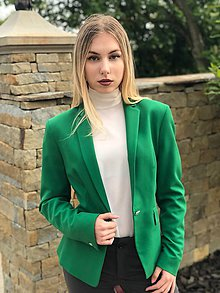 Kabáty - Biznis sako zelené - 10722659_