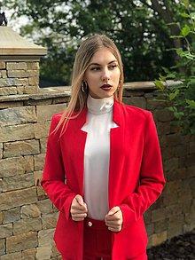 Kabáty - Letné sako červené - 10722785_
