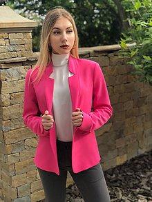 Kabáty - Letné sako ružové - 10722889_