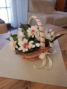 Košíky - Košík s kvetmi - 10720702_