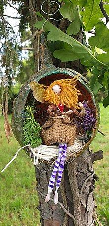 Socha - víla Enelína Johana (závesná dekorácia) - 10723055_