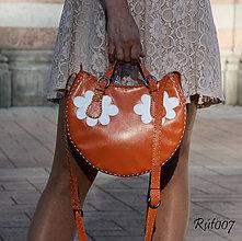 Kabelky - Kožená kabelka LENTILKA_mandarinka - 10723173_