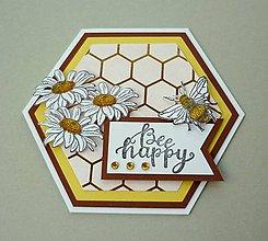 """Papiernictvo - Pohľadnica - """"Be happy"""" - 10723026_"""