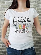 Tričká - Tričko - LOVE - 10721625_