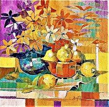 Obrazy - Zátišie s citrónom 1 - 10720734_