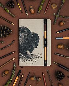 Papiernictvo - Zápisník A5 Bison - 10720422_