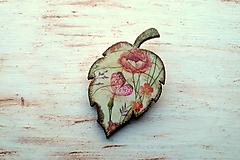 brošňa lúčne kvety