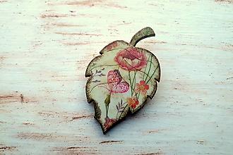 Odznaky/Brošne - brošňa lúčne kvety - 10720650_
