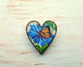 Odznaky/Brošne - brošňa motýľ - 10720665_