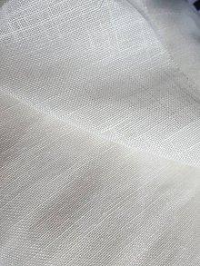 Textil - Biela priehľadná záclonovina š.150cm - 10722030_