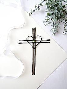 Dekorácie - Tepaný krížik s perličkou *15 - 10720980_