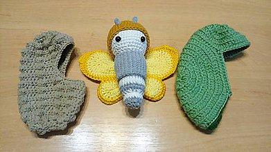 Hračky - Žltý motýľ - vývoj - 10723237_