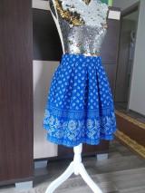 Sukne - folk sukňa modrá - 10724961_