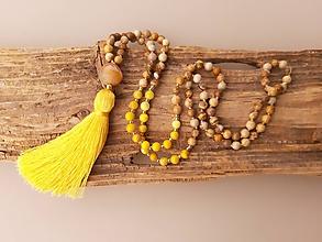 Náhrdelníky - Mala náhrdelník jaspis a jaspis regalit so strapcom - 10725047_