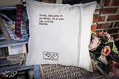 Úžitkový textil - Vankúšik pre Terku - 10725874_