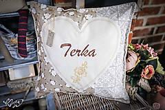 Úžitkový textil - Vankúšik pre Terku - 10725879_
