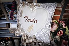Úžitkový textil - Vankúšik pre Terku - 10725880_