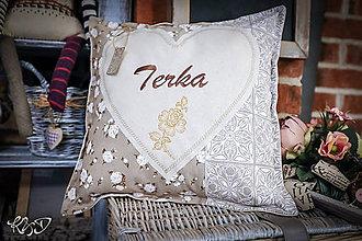 Úžitkový textil - Vankúšik pre Terku - 10725876_
