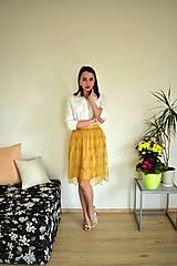 Sukne - Krajková sukně EMILY, žlutá - 10726610_