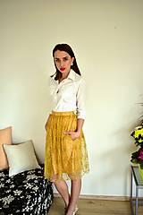 Sukne - Krajková sukně EMILY, žlutá - 10726611_