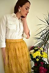 Sukne - Krajková sukně EMILY, žlutá - 10726612_