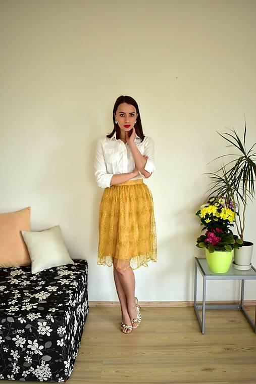 Krajková sukně EMILY, žlutá