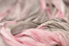 Šály - AFFTER - ručne maľovaný krešovaný pléd. - 10724809_