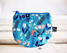 Peňaženky - Peňaženky - ladené do modrej - 10724225_