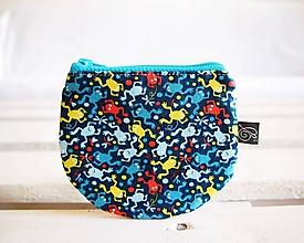 Peňaženky - Peňaženky - ladené do modrej (Žabky) - 10724236_