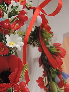 Ozdoby do vlasov - Kvetinový svadobný venček do vlasov - 10726670_