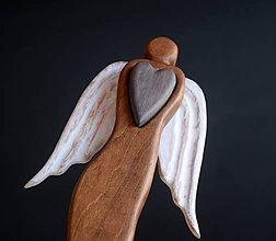 Dekorácie - Anjel so srdcom (Anjel so srdcom III.) - 10724382_