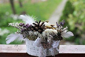 Dekorácie - Kvetinová krabička - 10725497_