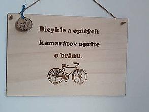 Dekorácie - Tabuľka - bicykel - 10724054_