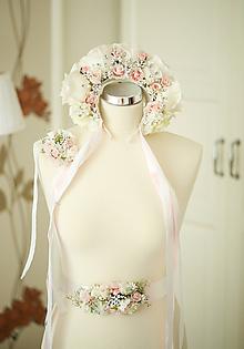 Opasky - Romantický kvetinový opasok - 10725112_